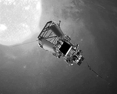 """""""帕克""""号太阳探测器效果图图片来源:NASA"""
