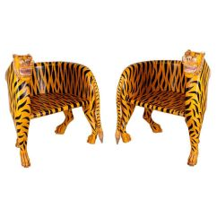 Wooden Chairs With Arms India Hydraulic Gaming Chair For Sale Solid Wood Tiger In Yellow