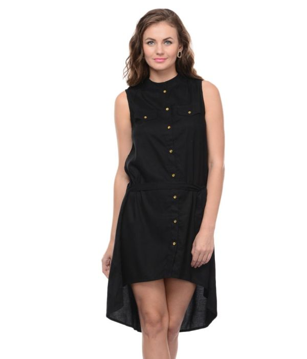Xniva Black Rayon Dresses Online In