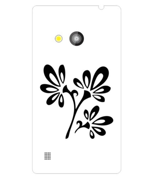 Printland Back Cover For Nokia Lumia 720-White & Black