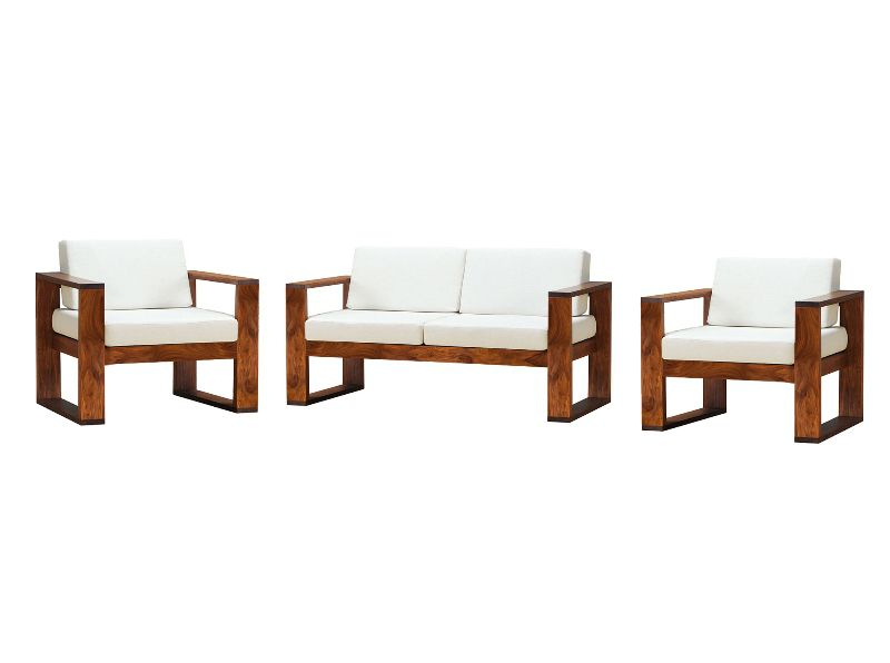 simple wooden sofa set online single beds gold coast buy two seater sheesham wood get 2 free