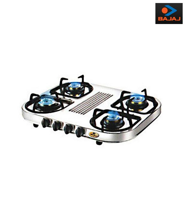 Compare Bajaj CX 10 D 4 Burner Gas Cooktop price online