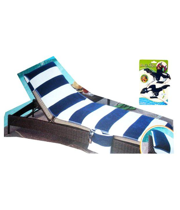 white lounge chair covers poker chairs with casters blue cover whale boca clips buy online at low price snapdeal
