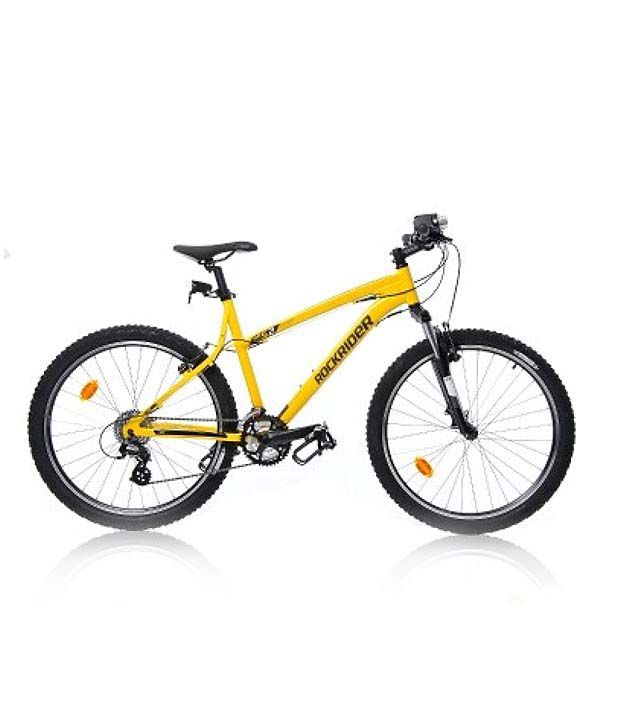 Btwin Rockrider 52 Yellow 12 Cycling Mountain Bikes