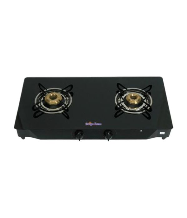 Surya Flame Sfbl gl 1462b 2 Burner Gas Cooktop Glaze Black available at SnapDeal for Rs.4099