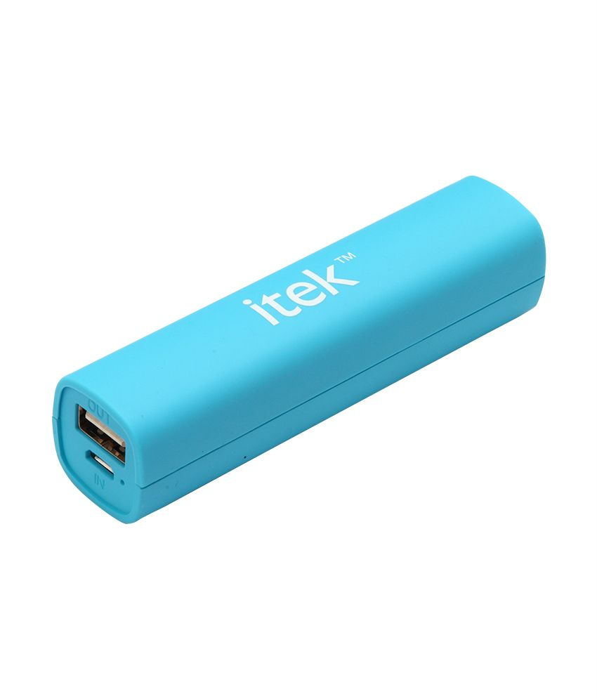 Itek 2600Mah Power Bank Neon Blue - Buy Power Banks Online @ Lowest Prices   Snapdeal.com