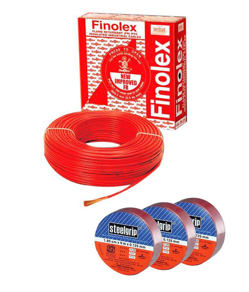 hight resolution of finolex house wire 4 sqmm fr 90 mts blue with free set of 3 insulation tapes
