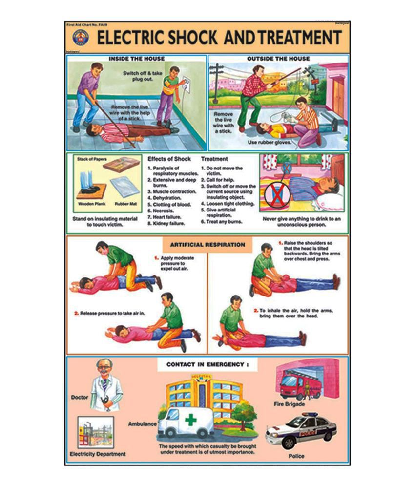 house electrical wiring diagram in india 4 wire rtd teachingnest electric shock treatment chart first aid disaster management training buy online at best price snapdeal