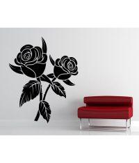 Decor Kafe Rose Black Wall Decal: Buy Decor Kafe Rose ...