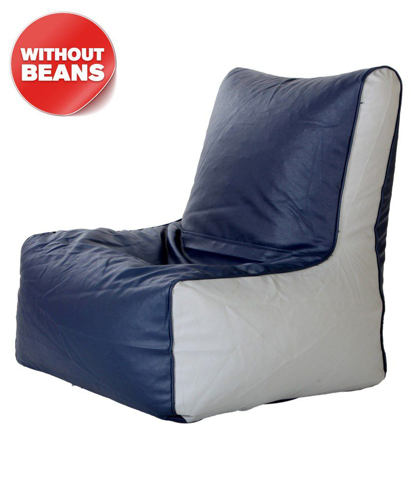 buy bean bag chair iron chairs outdoor biggie xxl size grey indigo only cover online at best prices in india on