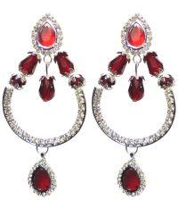 Shabnam Red Bridal Beaded Earrings - Buy Shabnam Red ...