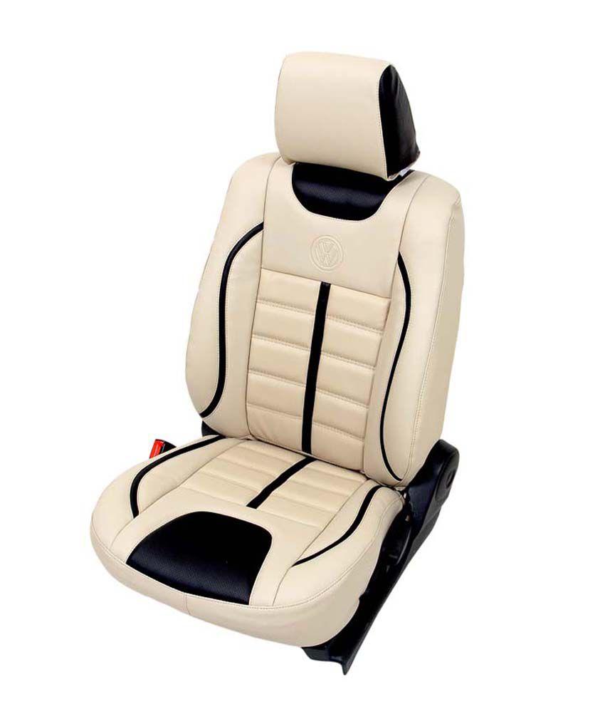 Club Class Car Seat Cover For Maruti Dzire  Design  Viera Colour  Beige  Black Buy Club