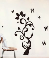 WOW Interiors and Decors Black Black Butterfly Wall ...