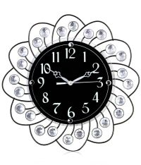 Victor Designer Moulded Wrought Iron Wall Clock - Black ...