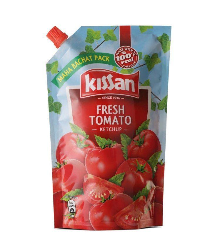 Kissan Fresh Tomato Ketchup Doy Pack (1000 g): Buy Kissan ...
