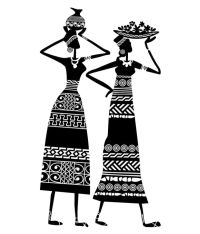 Wall Inc. African massai tribal art ladies wall decal ...