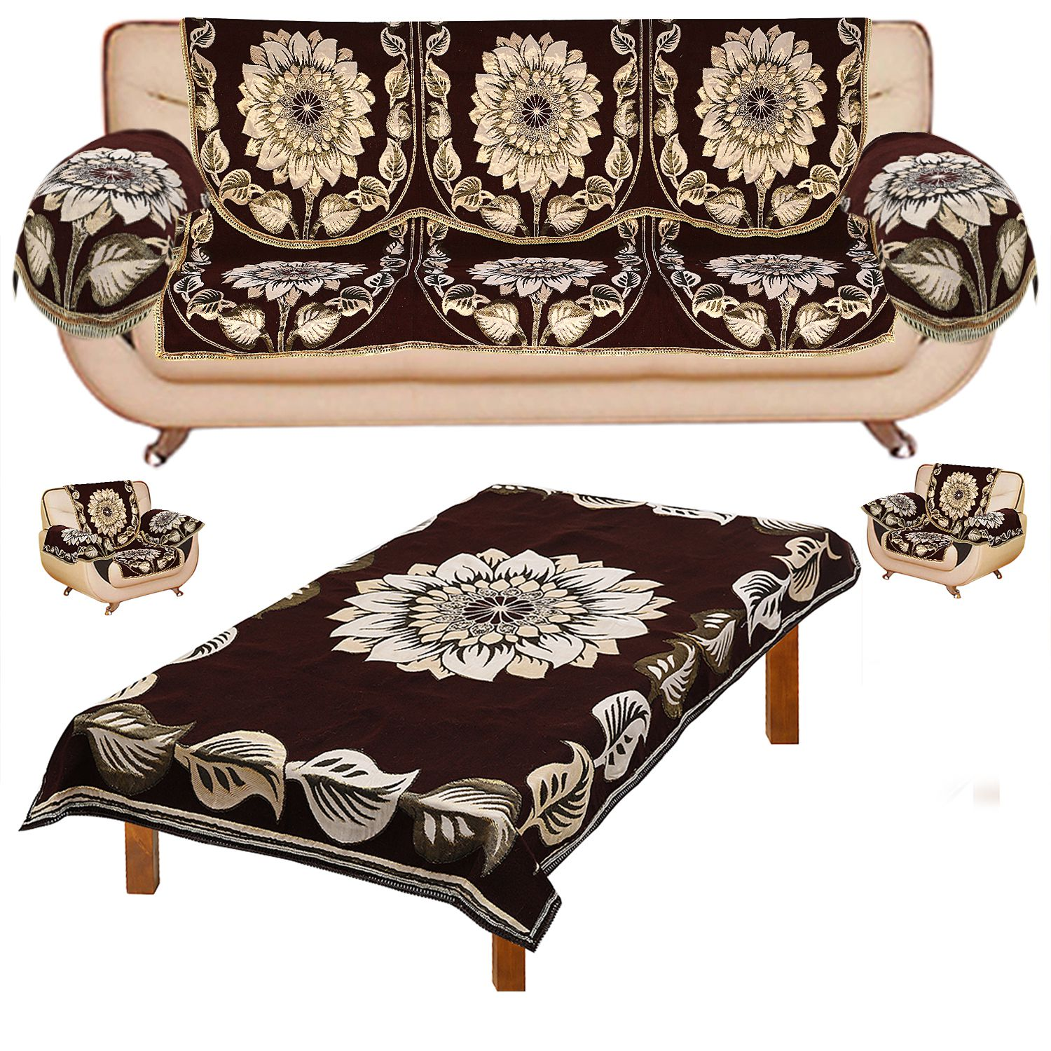 sofa covers low price cleaning bangalore fabnation designer combo 10 with 6 arm