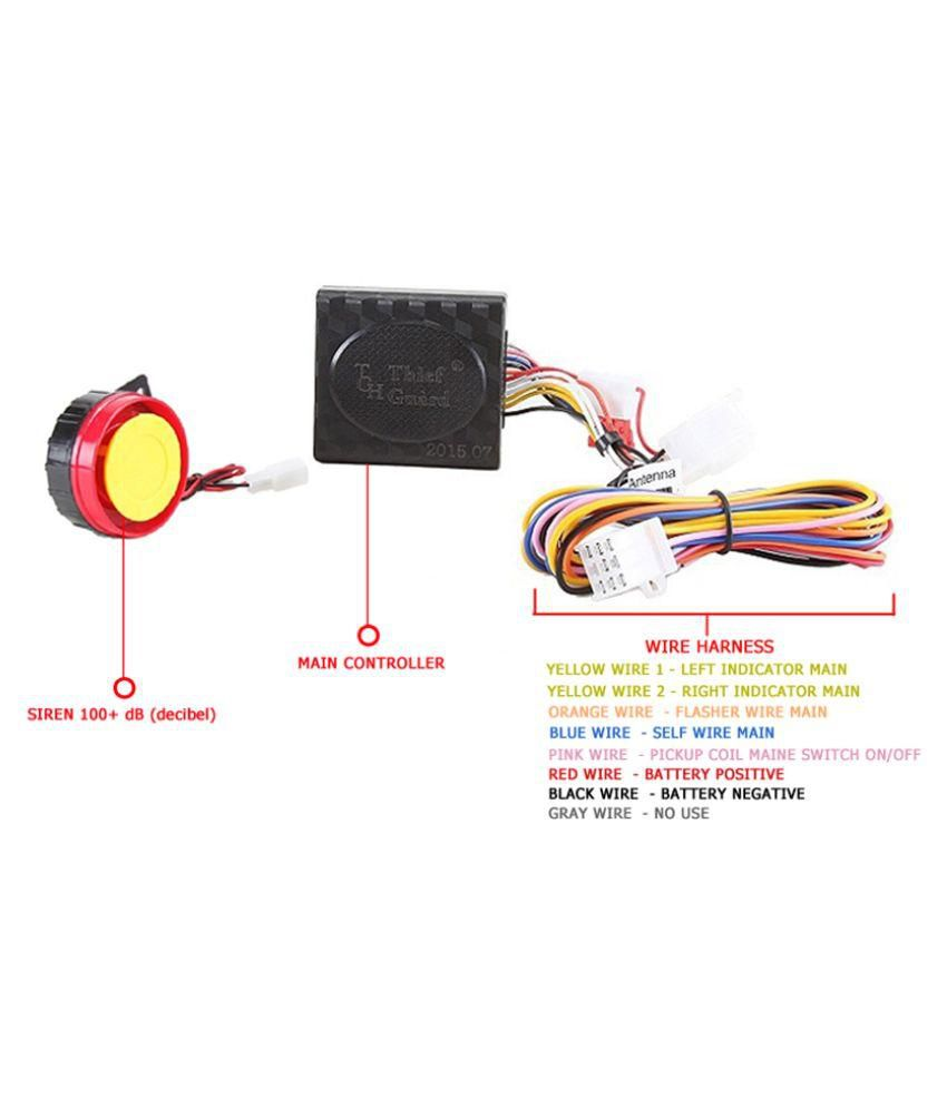 wiring diagram for home alarm system 1998 chevy s10 alternator autofy - anti-theft security with remote (for all bikes): buy ...