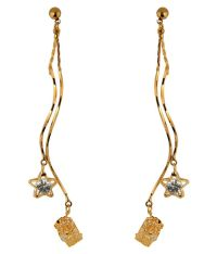 Krs Jewels Golden Hanging Earrings Snapdeal price ...