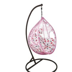 Buy Chair Swing Stand Planter Outkraft Hanging With Cushions Pink White Color
