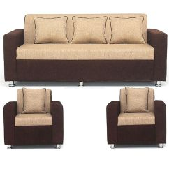 5 Seater Sofa Set Under 20000 Manufacturers Sydney Bls Tulip Brown Cream 3 1 Buy