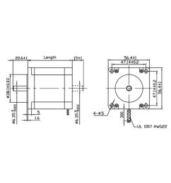 robodo stepper motor nema 23 10 1 kg cm bipolar hybrid  [ 850 x 995 Pixel ]