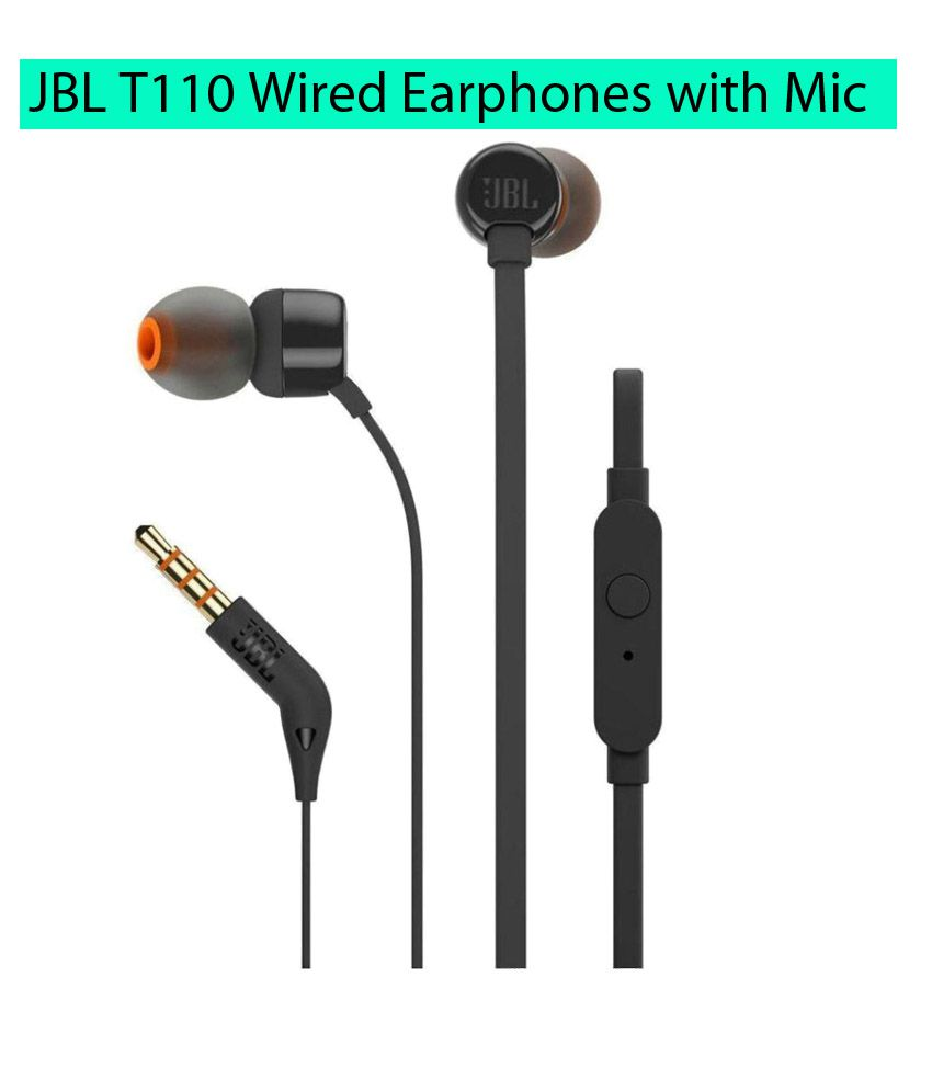 hight resolution of jbl t110 in ear wired handsfree earphones with mic black buy jbl t110 in ear wired handsfree earphones with mic black online at best prices in india on