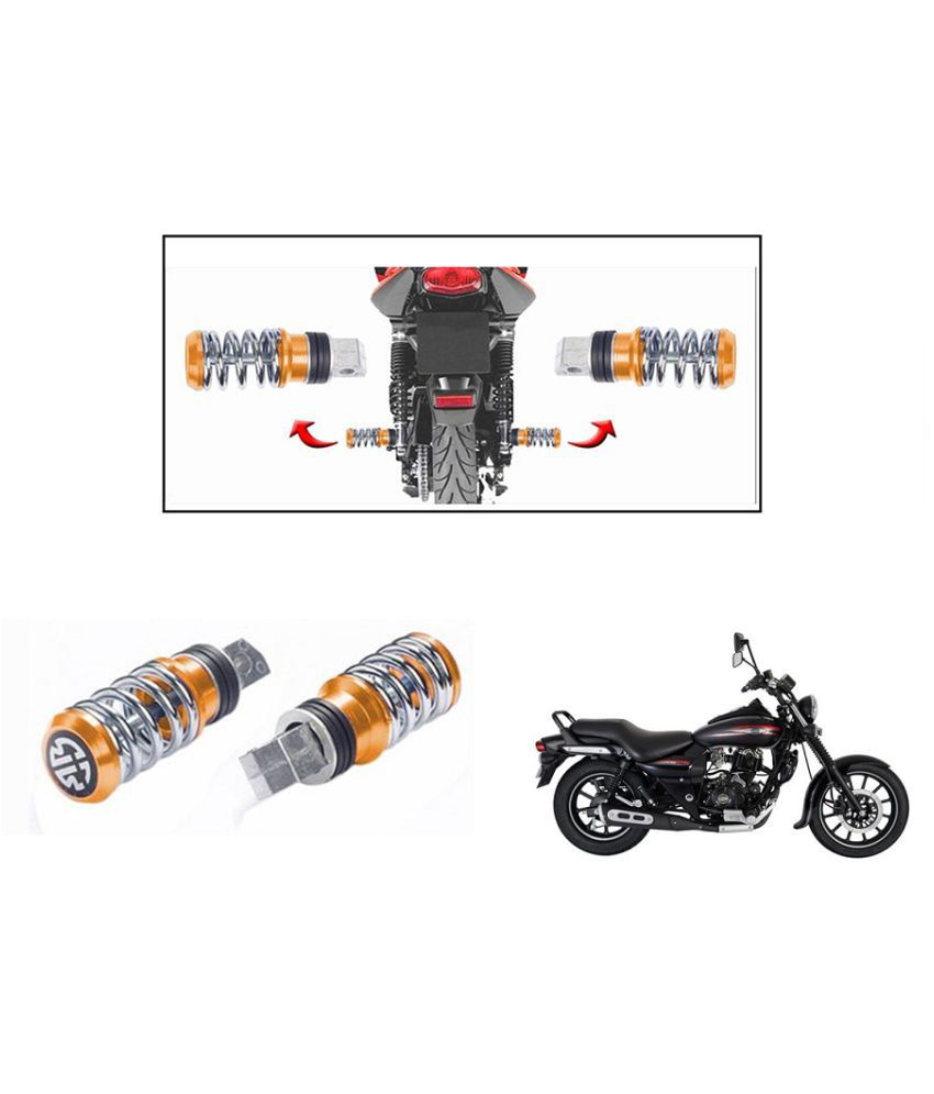 Autonity Coil Spring Style Bike Foot Pegs / Foot Rest Set