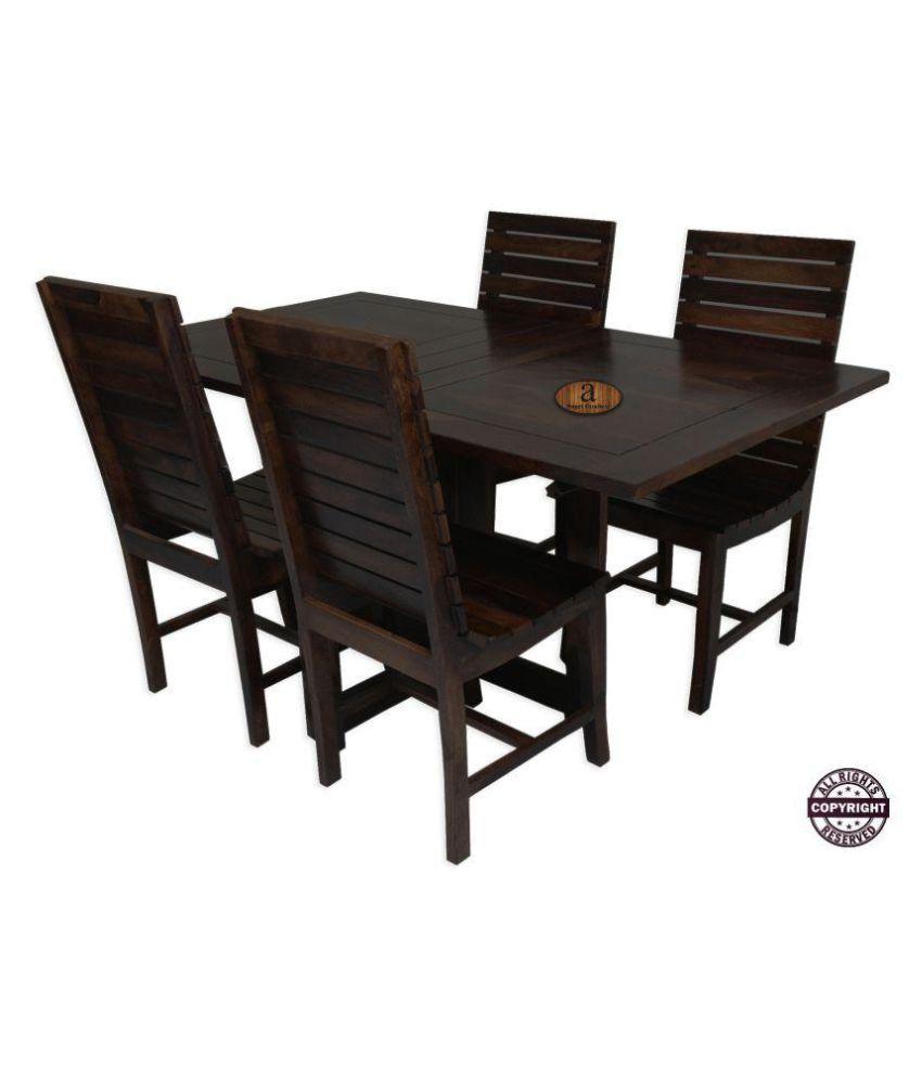 Angels Modish Solid Sheesham Wood Dining Table Set