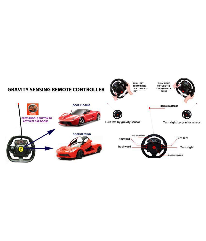Ferrari RC car with Gravity sense control Remote & Pedal