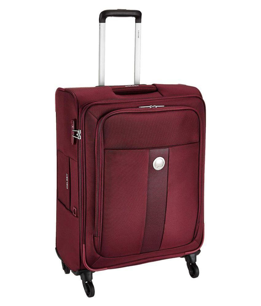 Delsey Polyester 68 cms Red Softsided Cabin Luggage