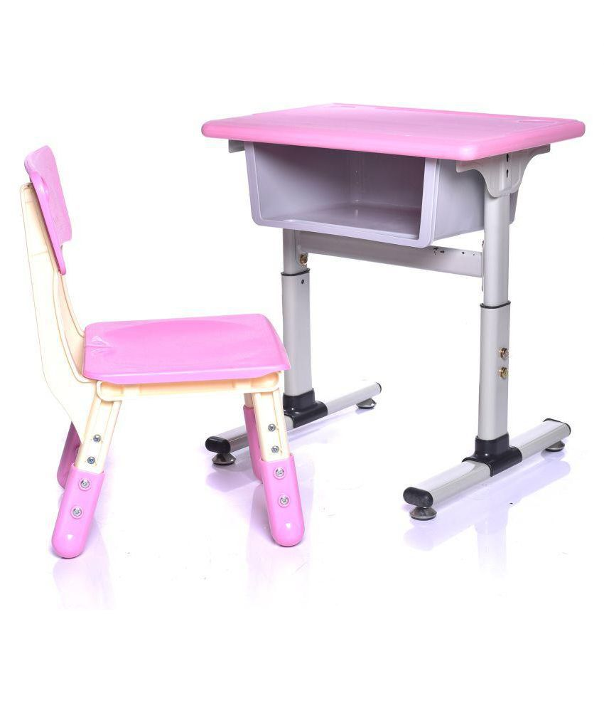 Kids Chair Desk Iris Height Adjustable Children Kids Students Study Desk And Chair Set Work Station For Home Or School Pink