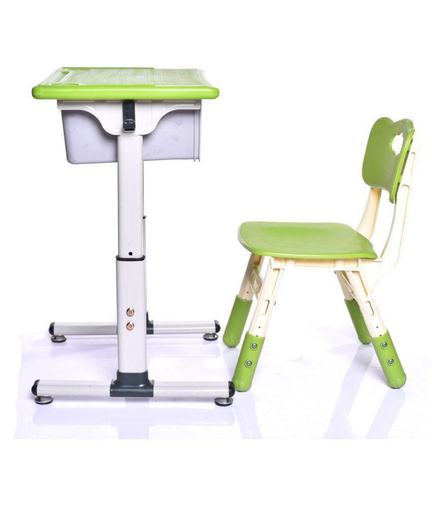 Height Adjustable Chair Iris Height Adjustable Children Kids Students Study Desk And Chair Set Work Station For Home Or School Green