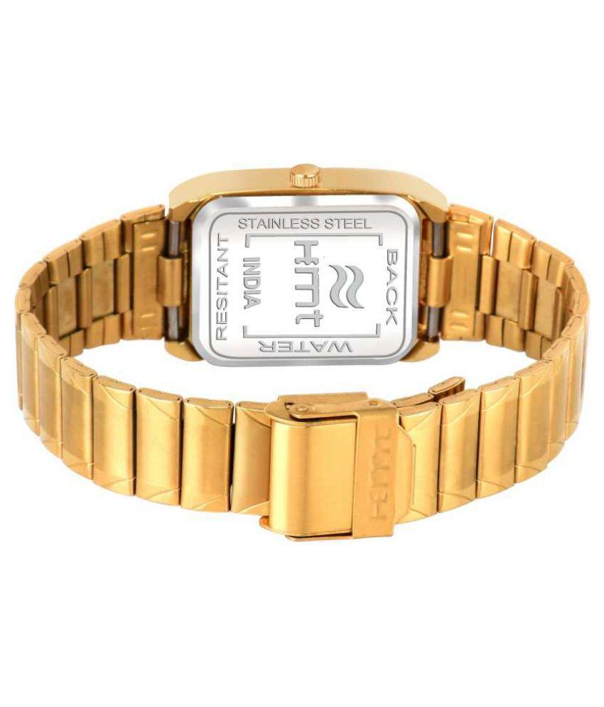Hemt HM-GR002-GLD-GLD Stainless Steel Analog Men's Watch - Buy Hemt HM-GR002-GLD-GLD Stainless Steel Analog Men's Watch Online at Best Prices in ...