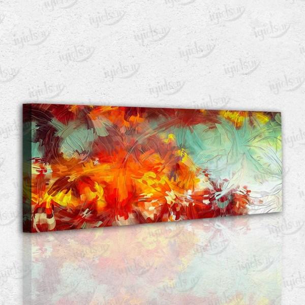 Renkli Desenler Temalı Kanvas Tablo