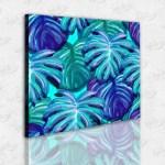 Renkli Palmiye Yaprakları Kanvas Tablo