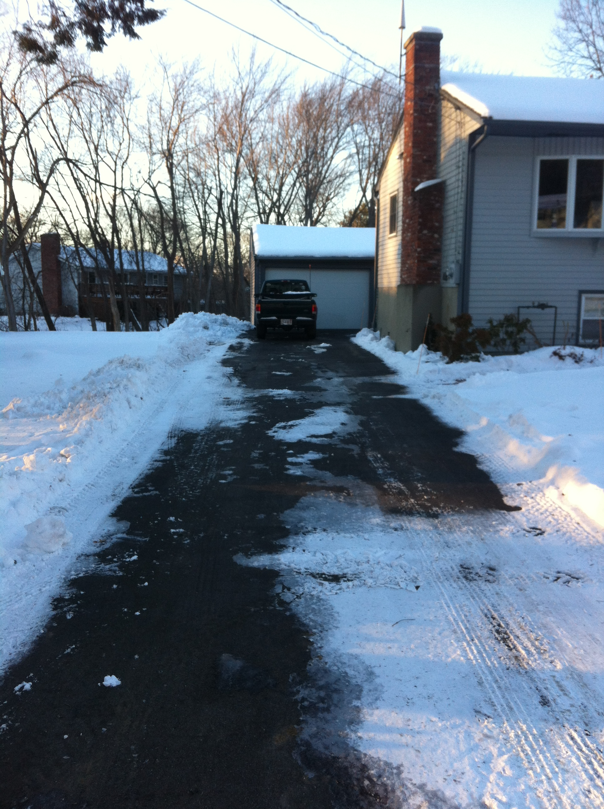hight resolution of obviously that particular edge is more important to be useful for vehicles to use than to know where the formal driveway edge is for plowing