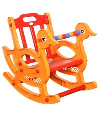 Kisan Red and Orange Kisan Rocking Chair