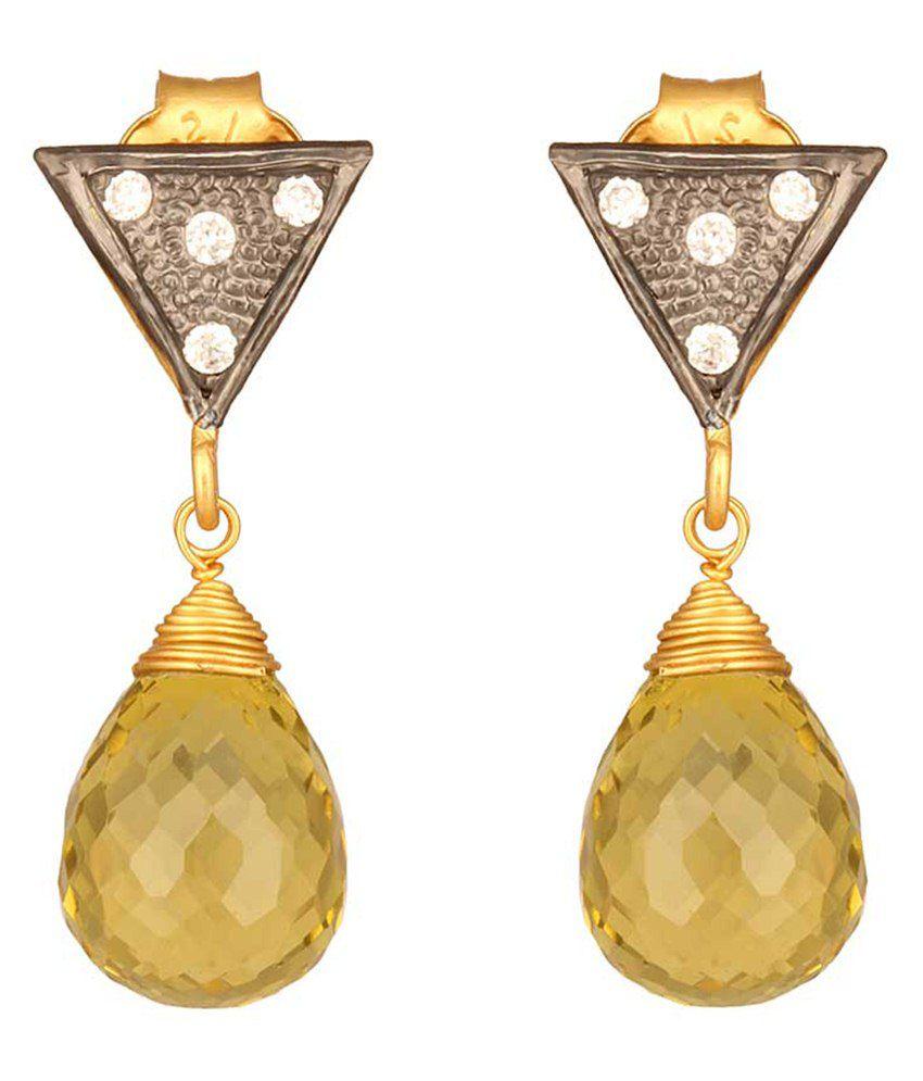 Mirrorwhite Green Pearl Stud Earrings