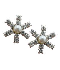 Jewelry Place Pearl & Swarovski 925 Sterling Silver ...