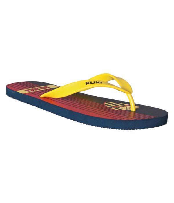 Kuki Elegant Yellow Flip Flops In India
