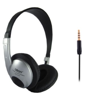 Buy Ubon Ubon210 Over Ear Wired Headphone Without Mic Silver Online at Best Price in India