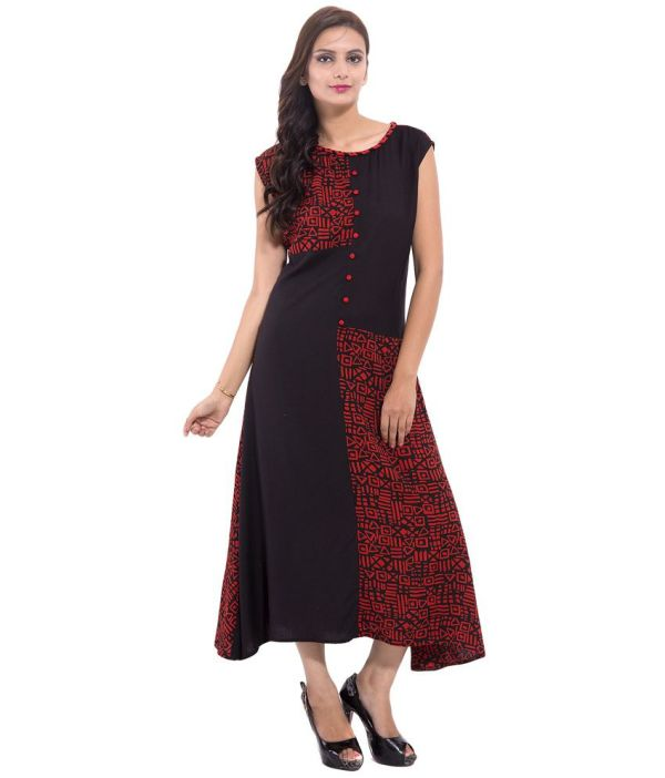 Goodwill Black Rayon Dresses Online In