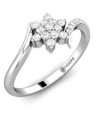 Candere Forever Promising Diamond Studded White Gold Ring ...