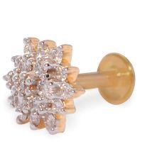 Vedanjali Diamond Madras Screw Earrings: Buy Vedanjali ...