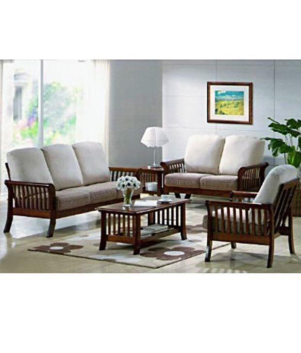sofa set models in india corner bed bad credit induscraft - living room wooden buy ...