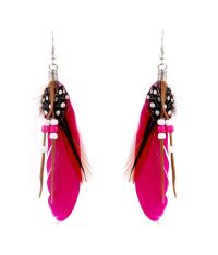 Habors Red Feather Earrings - Buy Habors Red Feather ...