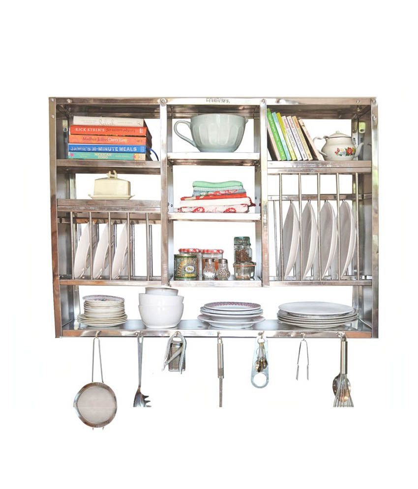 metal kitchen rack banquette 45 off on bharat gloss finish stainless steel 30x42 inch snapdeal paisawapas com