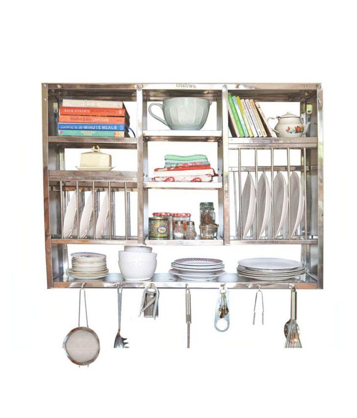 Buy Bharat Gloss Finish Stainless Steel Kitchen Rack Inch
