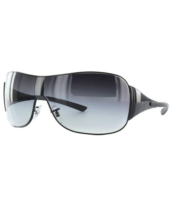 Ray-ban Gray Medium Men Wrap Sunglasses - Ray